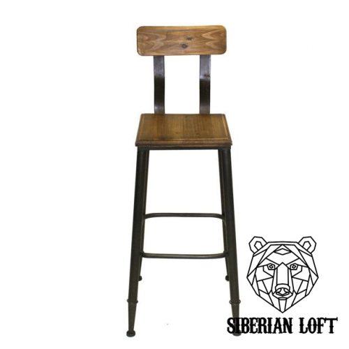 Барный стул в стиле лофт Аарон