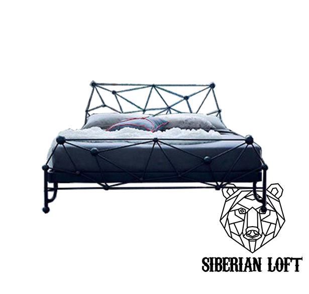 Кровать в стиле Лофт LDB 39
