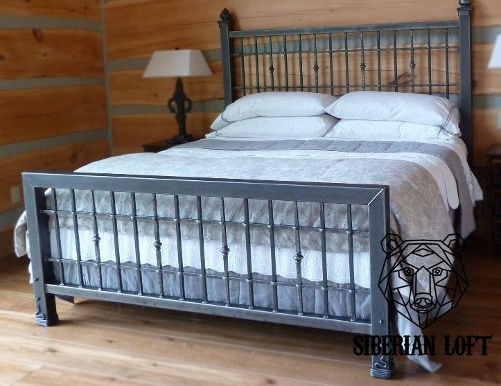 Кровать в стиле Лофт LDB 57