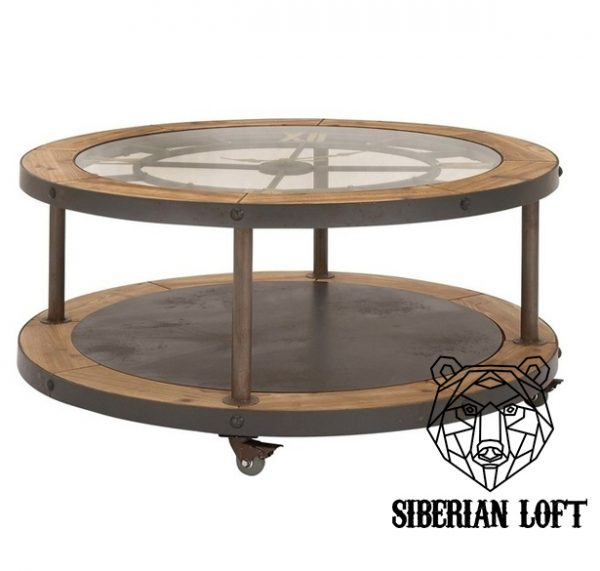 Журнальный столик в стиле Лофт «Сибериан Клок»
